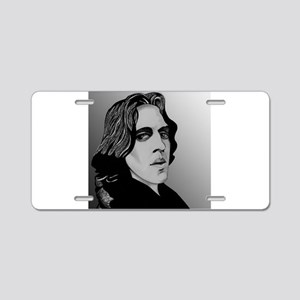 Oscar Wilde portrait-only ite Aluminum License Pla